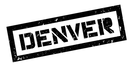 capital of colorado: Denver rubber stamp on white. Print, impress, overprint. American city sign, travel destination, vacation and tourism, capital of Colorado.