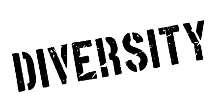 sexuality: Diversity rubber stamp on white. Print, impress, overprint. Illustration