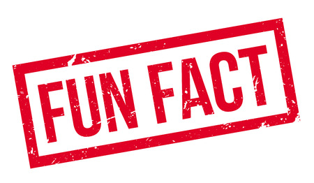 distraction: Fun Fact rubber stamp on white. Print, impress, overprint.