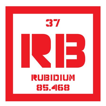 affinity: Rubidium is a chemical element. Soft, silver white element of the alkali metal group. Slightly radioactive. Illustration
