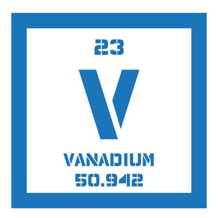 El vanadio elemento qumico metal de transicin icono de color con 62994584 el vanadio elemento qumico metal de transicin icono de color con el nmero atmico y el peso atmico elemento qumigver6 urtaz Images