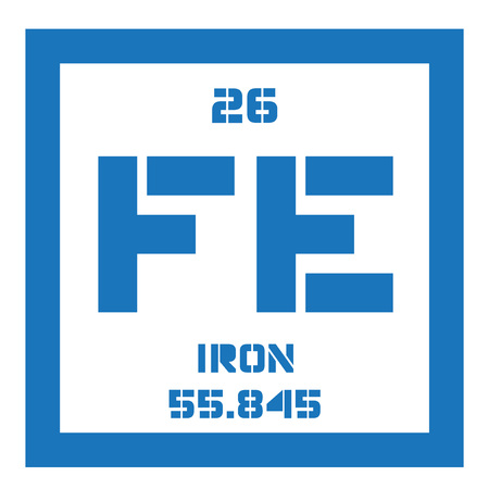 affinity: Iron chemical element. One of the most common elements on Earth. Illustration