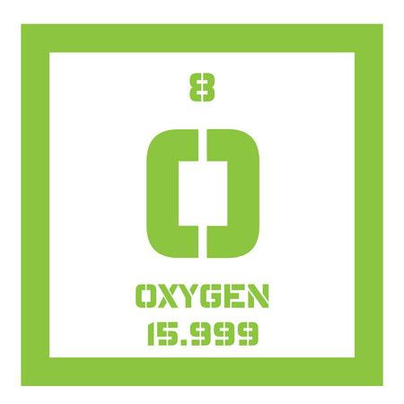 Oxgeno elemento qumico agente oxidante y no metal altamente oxgeno elemento qumico agente oxidante y no metal altamente reactivo icono de color con urtaz Image collections