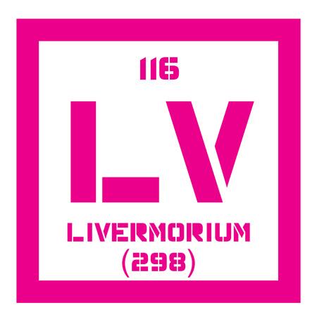 Livermorium Chemical Element Extremely Radioactive Element