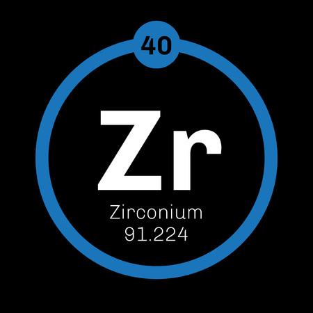 Zirconio elemento qumico el circonio es un metal de transicin zirconio elemento qumico el circonio es un metal de transicin icono de color con urtaz Choice Image