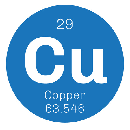 affinity: Copper chemical element. Soft metal with high thermal and electrical conductivity.