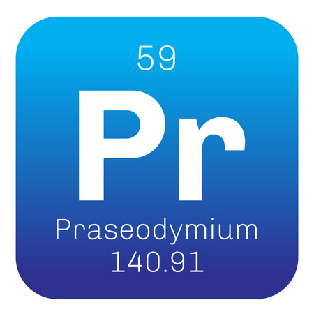 chemical element: Praseodymium chemical element. Praseodymium is a soft, silver white metal.