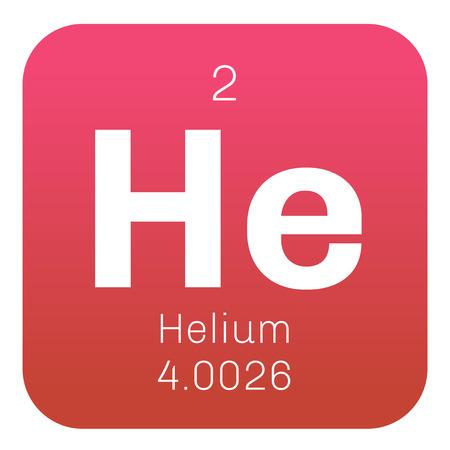 ヘリウム元素。ヘリウムは、無色、無臭、無味、無毒のガスで周期的なテーブルの希ガスのグループに属しています。