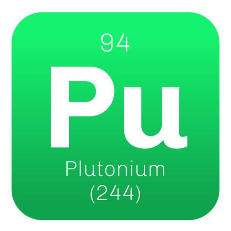 plutonium: Plutonium chemical element. Actinide dangerous radioactive metal of silver gray appearance.