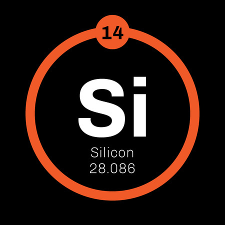 Silicon Chemical Element Tetravalent Metalloid Colored Icon