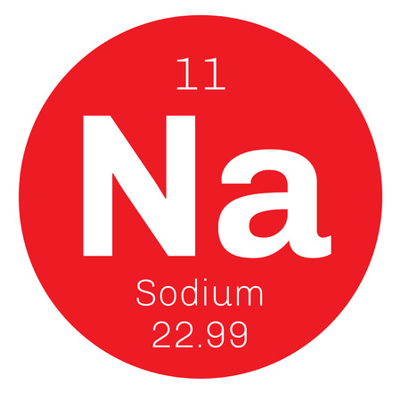 Il sodio è un elemento chimico. Morbido, bianco argento, metallo altamente reattivo. Uno degli elementi più abbondanti sulla Terra.