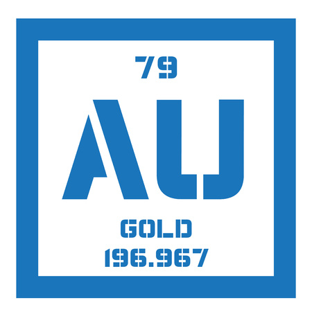 Gold chemical element one of the least reactive chemical elements gold chemical element one of the least reactive chemical elements colored icon with atomic urtaz Images