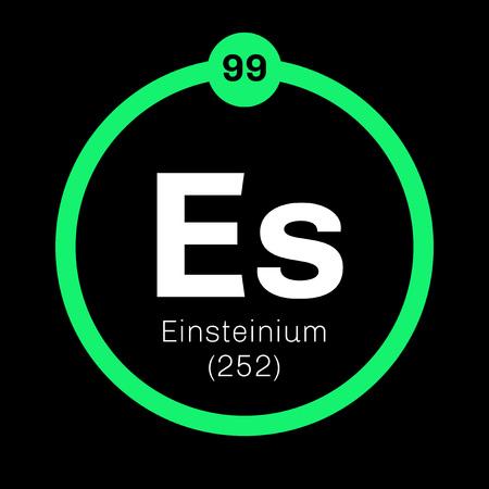 Roentgenio elemento qumico elemento sinttico extremadamente einstenio elemento qumico elemento sinttico icono de color con el nmero atmico y el urtaz Choice Image