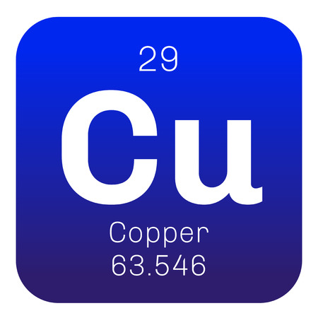 atomic symbol: Copper chemical element. Soft metal with high thermal and electrical conductivity.