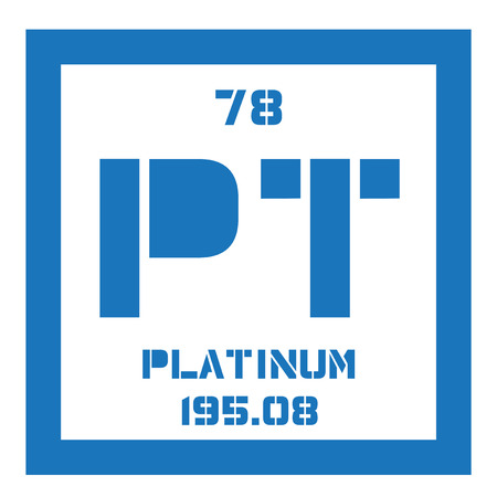 platinum metal: Platinum chemical element. Precious metal. Colored icon with atomic number and atomic weight. Chemical element of periodic table.
