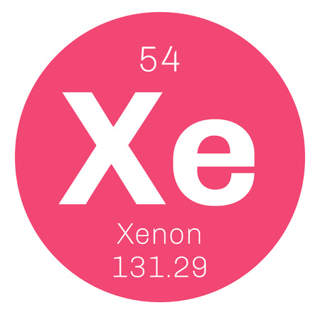noble gas: Xenon is a chemical element. Belongs to noble gases group of the periodic table. Neon is a colorless, odorless and inert gas. Illustration