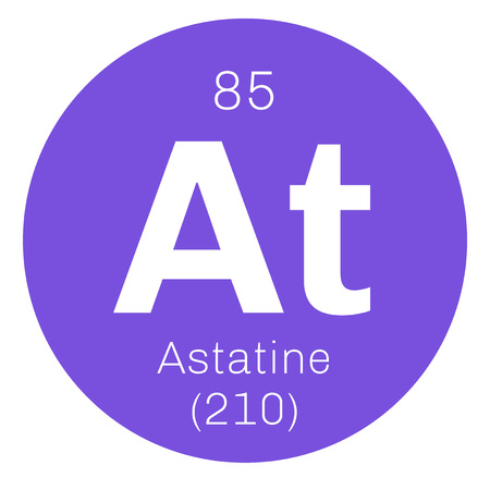 Astatine Chemical Element Radioactive Chemical Element Colored