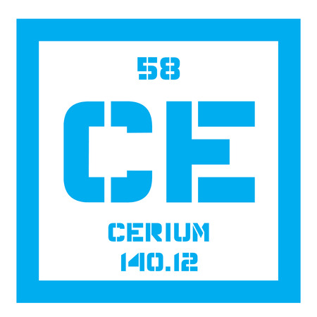 Cerium chemical element most common of the lanthanides colored 62995784 cerium chemical element most common of the lanthanides colored icon with atomic number and atomic weight chemical element of periodic table urtaz Image collections