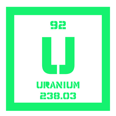 Uranium Chemical Element Uranium Is Weakly Radioactive Metal