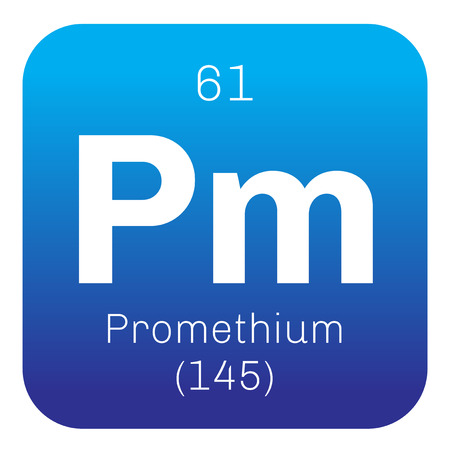 Promethium Chemical Element Radioactive Element Colored Icon