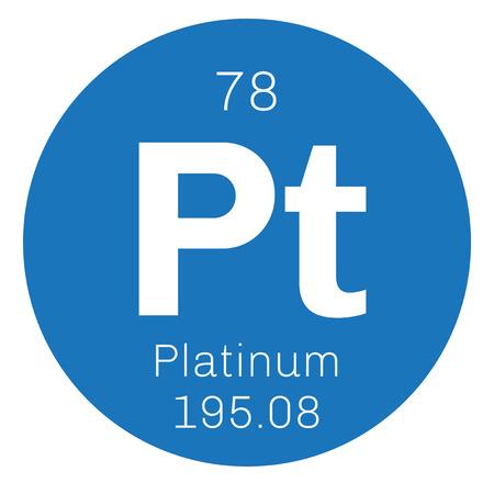 Palladium elemento qumico pertenece a los metales del grupo del metal precioso icono de color con el nmero atmico y el urtaz Choice Image