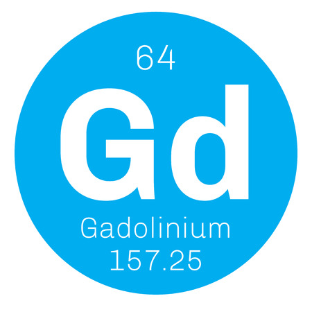 affinity: Gadolinium chemical element. Rare metal. Colored icon with atomic number and atomic weight. Chemical element of periodic table.