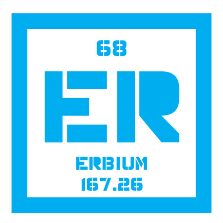 Erbium Chemical Element Rare Earth Element Colored Icon With