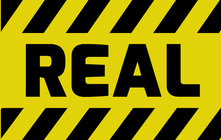 sincere: Real sign yellow with stripes, road sign variation. Bright vivid sign with warning message.