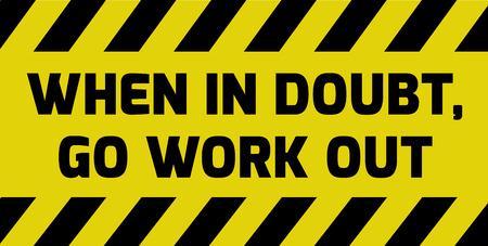 Ga werken teken geel met strepen, verkeersbord variatie. Heldere, levendige bordje met waarschuwing.