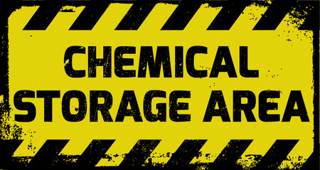 lpg: Chemical storage area sign yellow with stripes, road sign variation. Bright vivid sign with warning message.