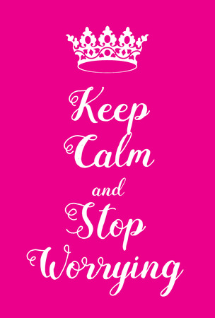 world war two: Keep Calm and stop worrying poster. Adaptation of the famous World War Two motivational poster of Great Britain. Illustration