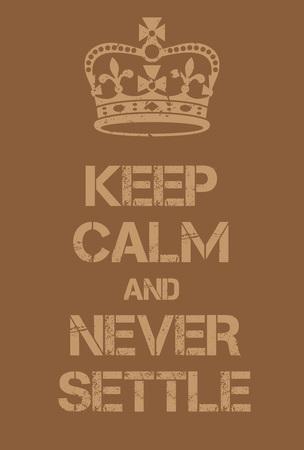 guardar silencio: Mantener la calma y nunca cierra cartel. Adaptación de la famosa Guerra Mundial cartel de motivación de Gran Bretaña.