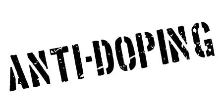 banish: Anti-Doping rubber stamp on white. Print, impress, overprint. Illustration