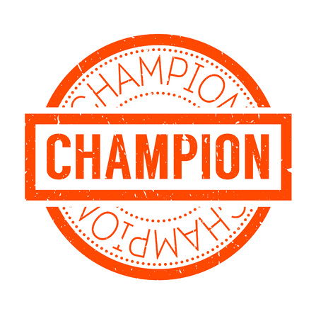 finalist: Champion rubber stamp. Grunge design with dust scratches. Effects can be easily removed for a clean, crisp look. Color is easily changed.