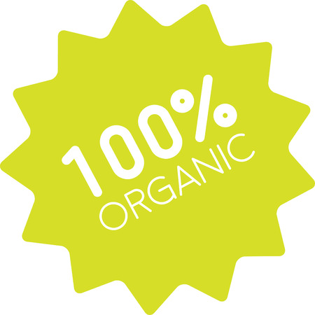 One hundred percent organic label. Sign of true farm fresh product, with no additives, no preservatives or other unnatural ingredients.