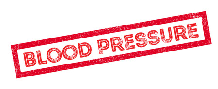 systolic: Blood Pressure rubber stamp on white. Print, impress, overprint. Illustration