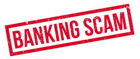 extortion: Banking Scam rubber stamp on white. Print, impress, overprint. Illustration