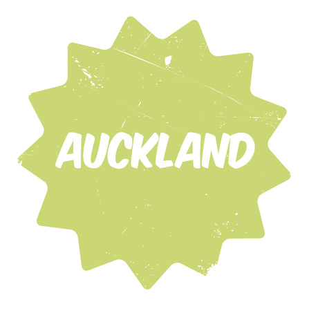 Auckland rubber stamp. Grunge design with dust scratches. Effects can be easily removed for a clean, crisp look. Color is easily changed.