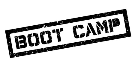 prison facility: Boot Camp rubber stamp on white. Print, impress, overprint.