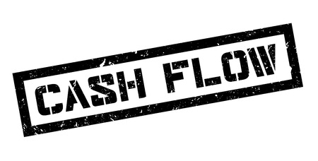 liquidity: Cash Flow rubber stamp on white. Print, impress, overprint.