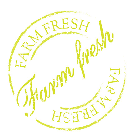 easily: Farm fresh rubber stamp. Grunge design with dust scratches. Effects can be easily removed for a clean, crisp look. Color is easily changed. Illustration