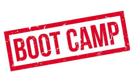 millitary: Boot Camp rubber stamp on white. Print, impress, overprint.