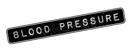 diastolic: Blood Pressure rubber stamp on white. Print, impress, overprint. Illustration