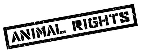 humane: Animal Rights rubber stamp on white. Print, impress, overprint.