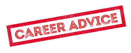 self training: Career Advice rubber stamp on white. Print, impress, overprint. Illustration