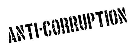 allegation: Anti-Corruption rubber stamp on white. Print, impress, overprint. Illustration