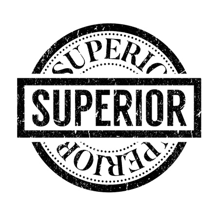 superior: Superior rubber stamp isolated on white background. Grunge effects can be easily removed for a clean crisp look.