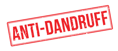 Anti-Dandruff rubber stamp on white. Print, impress, overprint. Illustration