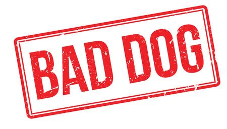 bad dog: Bad Dog rubber stamp on white. Print, impress, overprint. Illustration