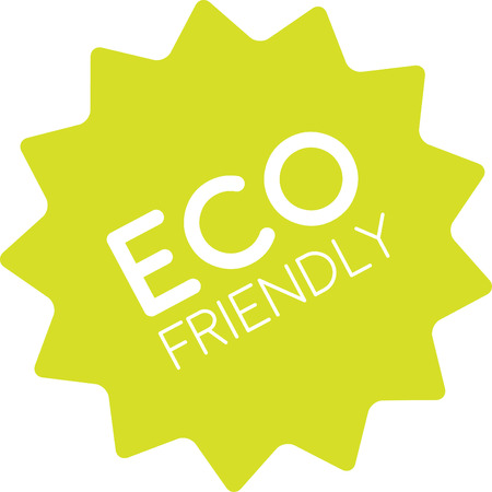 spot clean: Eco friendly green label. Sign of product good for health and nature. Product made with love, balanced and clean. No harm to nature, no harm to people. Illustration